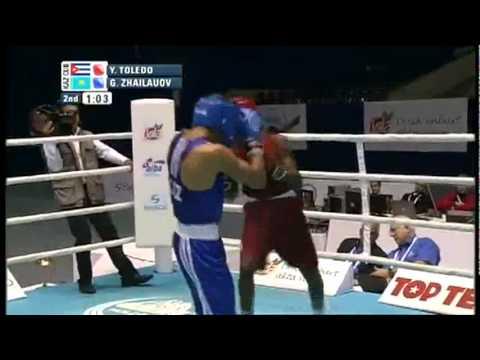 Light (60kg) SF - Toledo Yasnier (CUB) VS Zhailauov Gani (KAZ) - 2011 AIBA World Champs