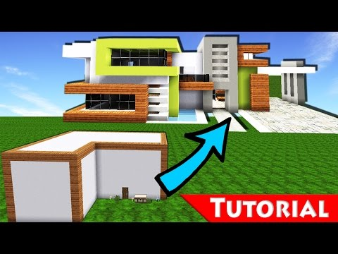 minecraft box to modern house transformation 2 tutorial how to