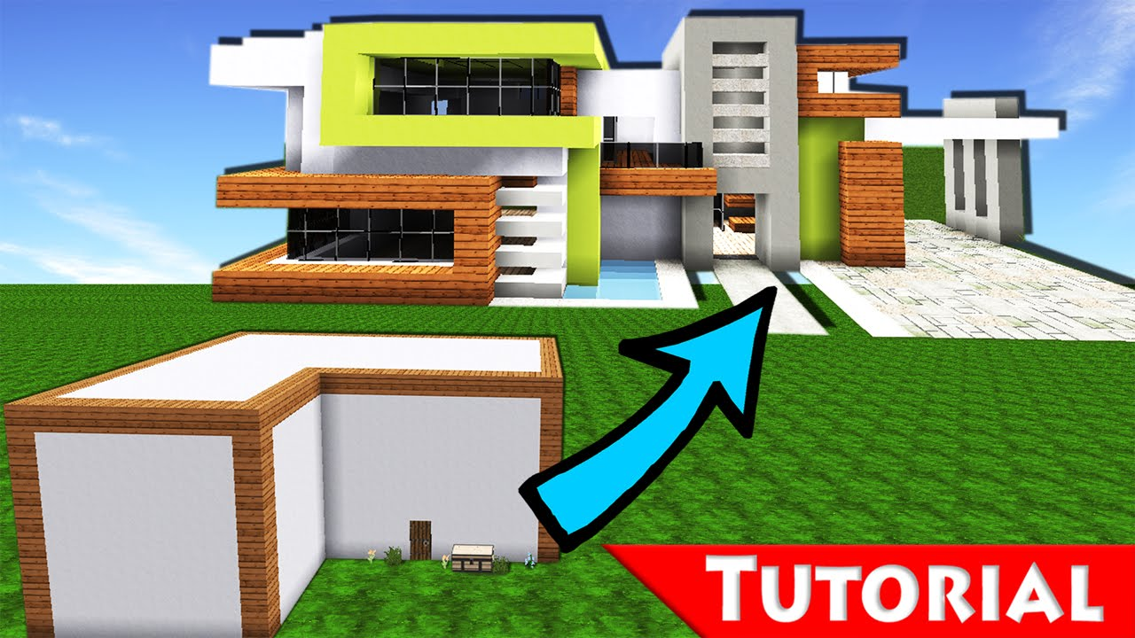 Minecraft box to modern house transformation 2 for How to build a modern home