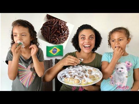 Americans Try Brazilian Brigadeiro