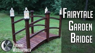 The Fairytale Garden Bridge is made from dimensional lumber available at your local home stores. Lanterns are from Pier 1 Imports: