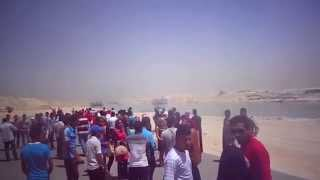 Egyptian university students the joy of the new Suez Canal