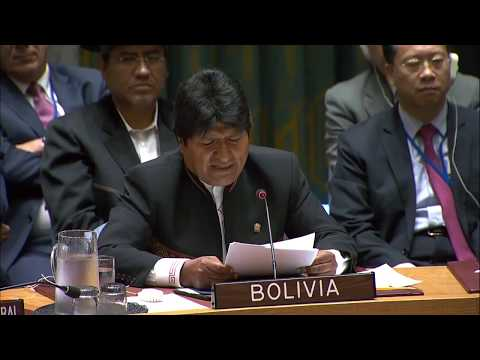 ''The United States are not interested in democracy'' - Evo Morales at the UN Security Council
