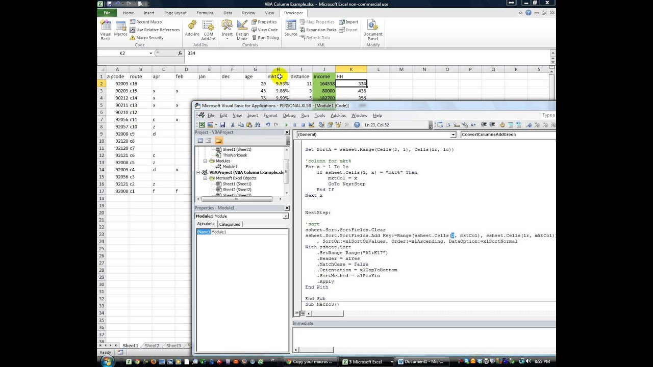 Excel VBA Tips N Tricks 32 Different Columns Every Day