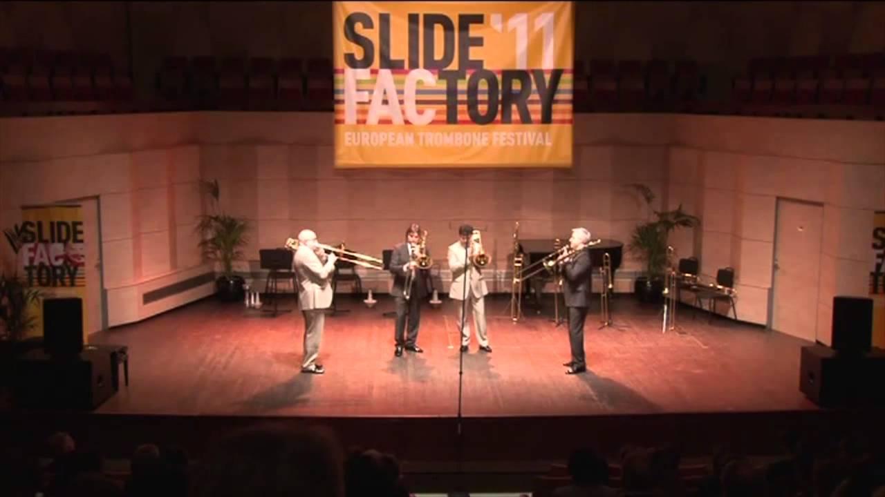 Slokar Quartet - Slide Factory 2011 - J. Fr. Michel: Jubilee Fanfare