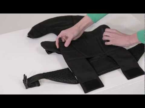 JJ Cole Medley Baby Carrier - Inward facing, seat extended position