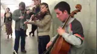 Music Performance in the Moscow Metro - Overture to Marriage of Figaro, Mozart