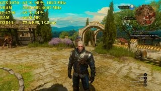 Witcher 3: Blood & Wine | GTX 1070 | Max Settings 1080p | Hairworks ON 8XAA
