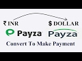 How to convert INR to USD in Payza wallet to make Payment.