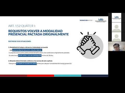 Webinar #2 de MBAUDD: Aspectos claves de la Nueva Ley de Teletrabajo. Expositor: Andrés Pumarino