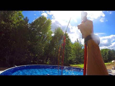 Ninja Warrior Pool Obstacle!