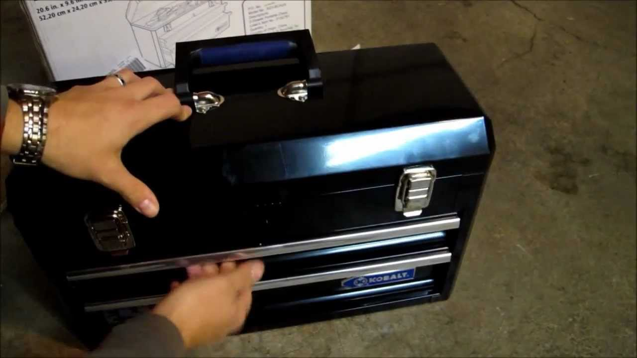 A Look At The Kobalt 20 1/2 In Black Steel Tool Box   YouTube