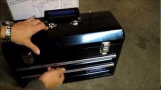 A look at the Kobalt 20-1/2-in Black Steel Tool Box