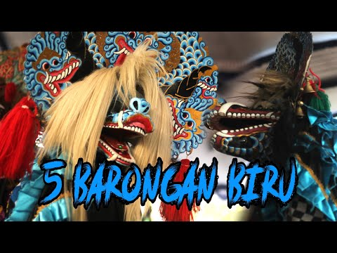 Solah Heroik Barong Klenting Biru Art, 5 Barong Biru Mengganas!