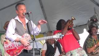 Paul Sanchez and Minimum Rage with Shamarr Allen, Jazzfest, May 3, 2014