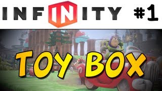 Disney Infinity Toy Box #1 - Let's Build A Racetrack! (1080p)