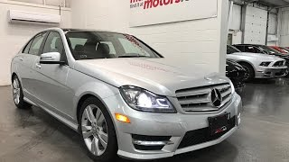 2012 Mercedes-Benz C-Class C300 SOLD SOLD SOLD  4MATIC NAV Sunroof One Owner Low KmsAWD