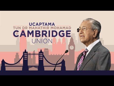 [LANGSUNG] Ucapan penuh Tun Dr Mahathir di Cambridge Union