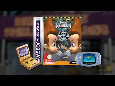 Gameplay : Jimmy Neutron vs. Jimmy Negatron [Gameboy Advance]