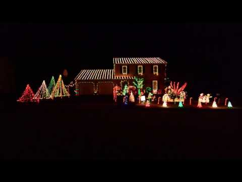 2016 Christmas Lights | Thunderstruck - AC/DC