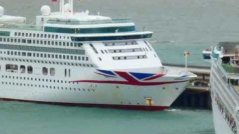 P&O Cruise Ships laid up at Dover