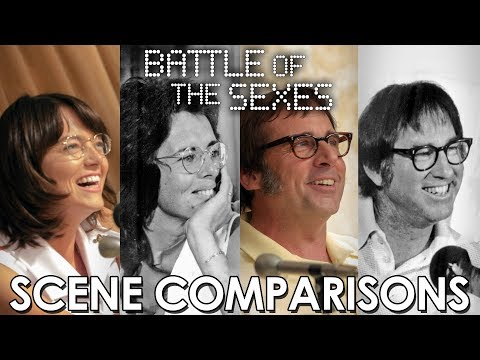 Battle of the Sexes (2017) | Emma Stone and Billie Jean King - scene comparisons streaming vf