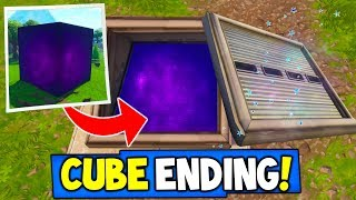 "Fortnite: CUBE SECRET ENDING REVEALED! ""Where Will The Cube End?"" Season 5 Storyline Ending!"