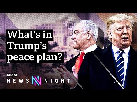 Trump releases long-awaited Middle East peace plan - BBC Newsnight