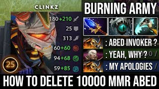 Absolutely Broken!!! WTF Skadi + Scepter Clinkz Destroyed 10000 MMR Abed Infinite Burning Army DotA2