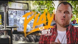 ernie ball play warped tour with chad gilbert of new found glory recording today
