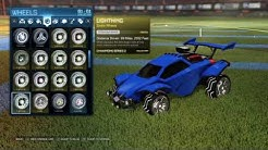 Full PAINTED lightning wheel set Rocket League