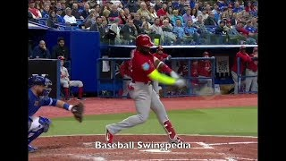 Marcell Ozuna Home Run Swing Slow Motion 2018-1(#ST)