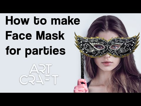How to make Masquerade Mask/Face mask very easily