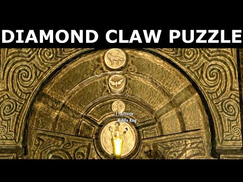 "Skyrim - Diamond Claw Puzzle Solution - Skuldafn Temple - ""The World-Eater's Eyrie"" Quest"