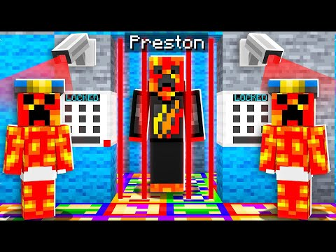 I Got Trapped In Baby Preston's Minecraft Prison!