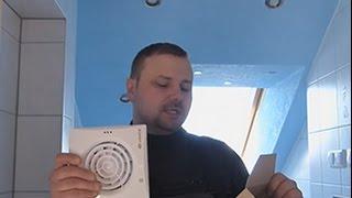 Установка вентилятора в ванной – супертихая модель Квайт 100 TH