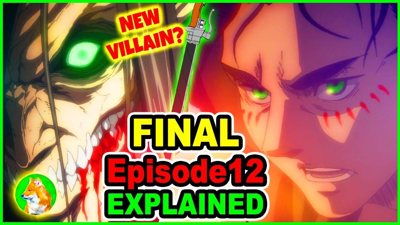 Eren Turns Villain & Hero? Eren WarHammer Titan Explained | Attack on Titan Season 4 Episode 12