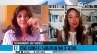 Cristina Barrientos: ¿Cómo cuidar el agua en un año de sequía?