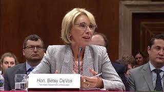 Shaheen Questioning Education Secretary Betsy DeVos