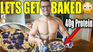 High Protein Baked Oatmeal Breakfast Recipe (no Powder)