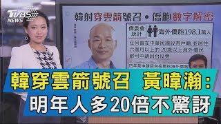 【說政治】韓穿雲箭號召 黃暐瀚:明年人多20倍不驚訝