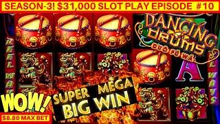 Dancing Drums Slot Machine Bonus HUGE WIN | Max Bet Bonus MASSIVE WIN | Season 3 | EPISODE #10