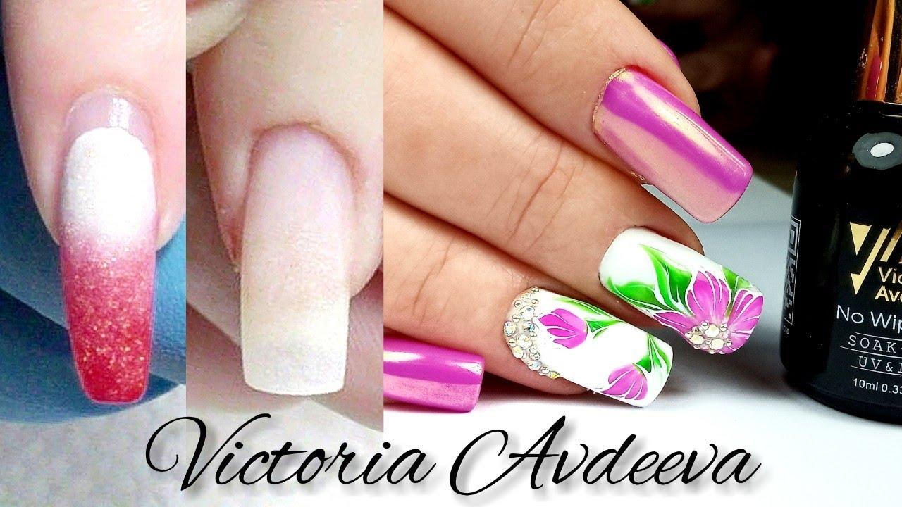 Очень Простой Дизайн Ногтей Цветок и Втирка|Смена|дизайн сайта для девушек