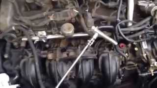 2004 Ford Focus pcv hose replace. Install intake