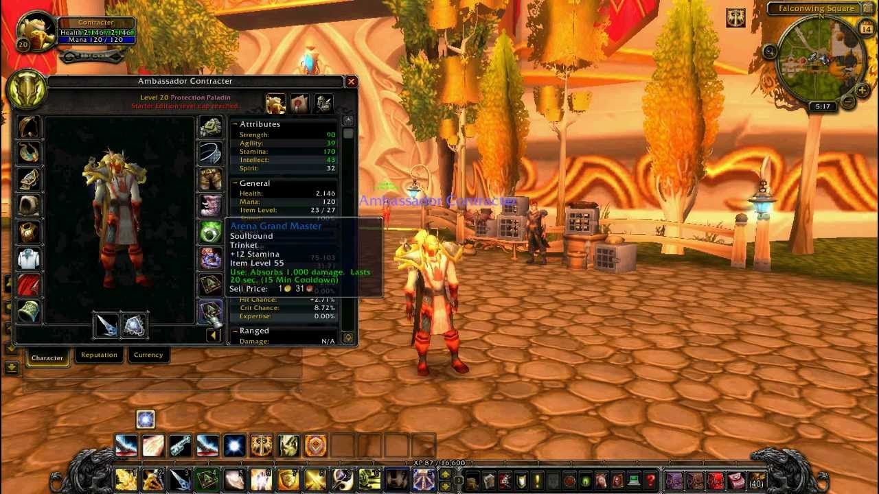 Level 29 paladin twink items
