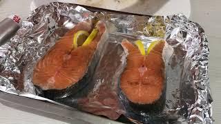 Как приготовить красную рыбу . Лосось в Духовке . Рыба в духовке .