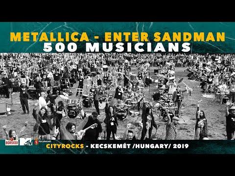 Metallica - Enter Sandman - 500 musicians rock flashmob - @CITYROCKS  cover (official)