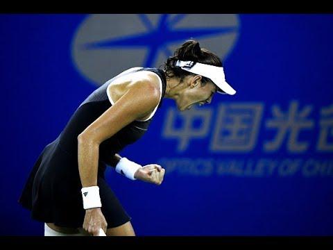 2017 Wuhan Second Round | Garbiñe Muguruza vs. Lesia Tsurenko | WTA Highlights