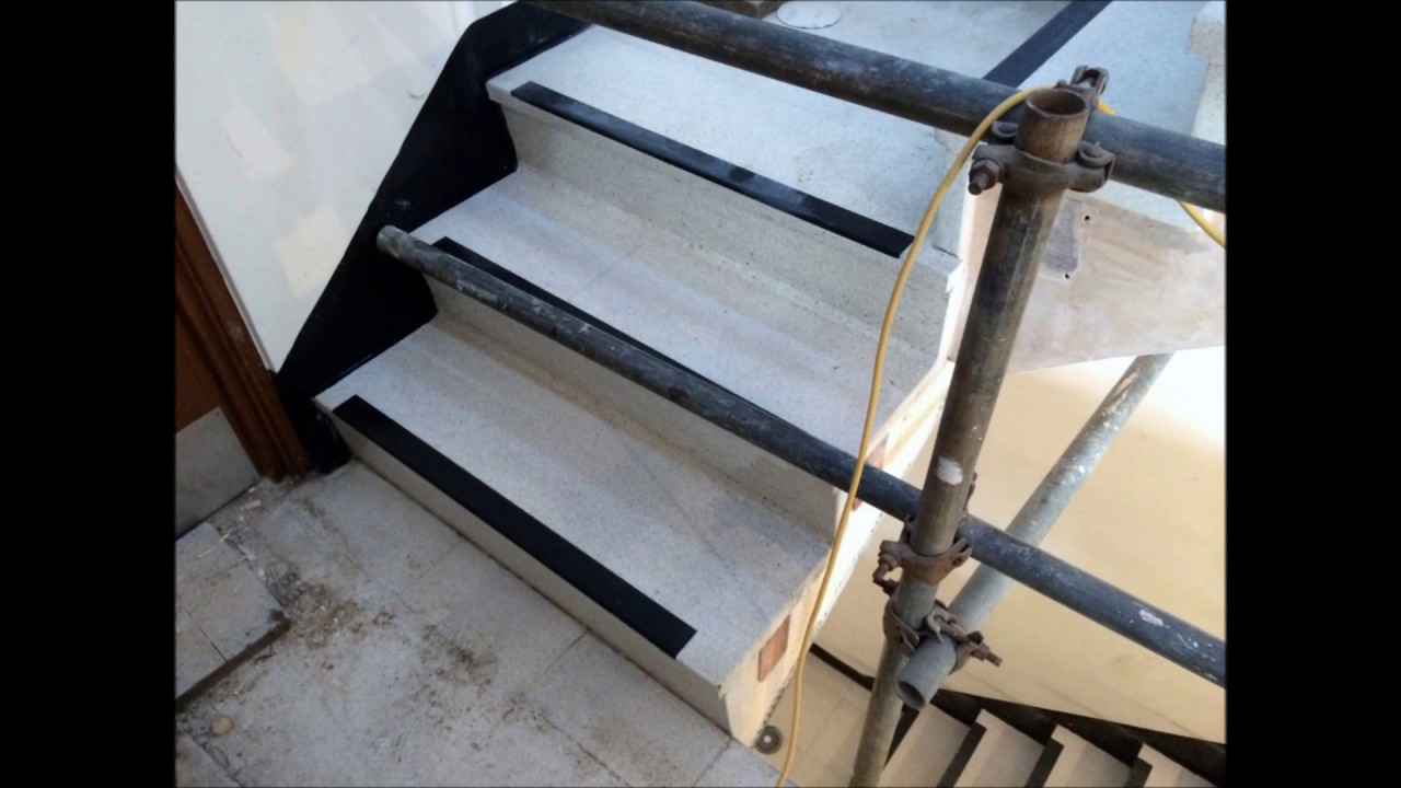 Terrazzo Stair Cleaning Polishing Restoration Sealing   Surrey, East  Sussex, Hampshire And Kent