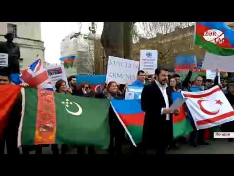 В Лондоне прошла акция протеста против армянской агрессии